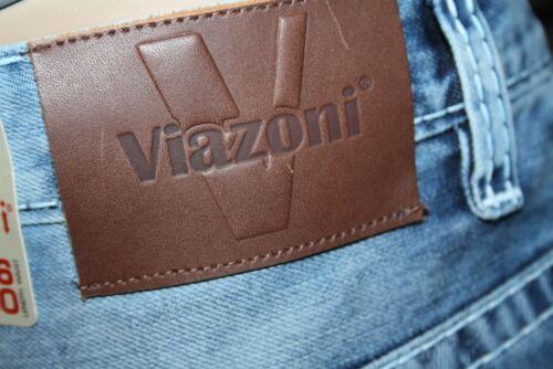 Viazoni Jeans otto saddle-carote Fit Blue Spessore Cuciture NUOVO PRIMAVERA 2019