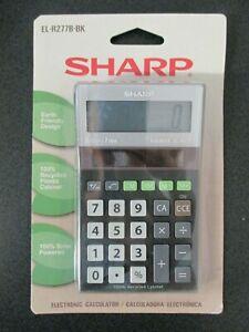 EL-R277BBK Recycled Series Handheld Calculator, 8-Digit LCD NEW in Package
