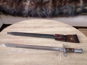 Swiss Bayonet Sawback M1914 Schmidt-Rubin Scabbard Frog Cavalry Pioneer WW1 WW2