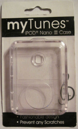 myTunes IPOD Nano III Clear Hard Case New in Pkg Fitted Skin Cover FREE S/&H