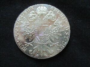 Silver Coin M Thesesia Thaler 1780 R Imp Hu Bo Reg Archid Avst Dux Castle Coin