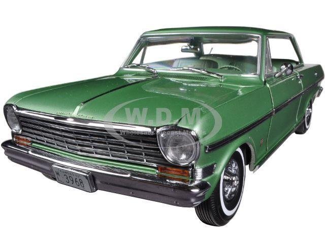 1963 CHEVROLET NOVA Hard Top Laurel vert 1 18 Diecast voiture modèle par SUNSTAR 3968