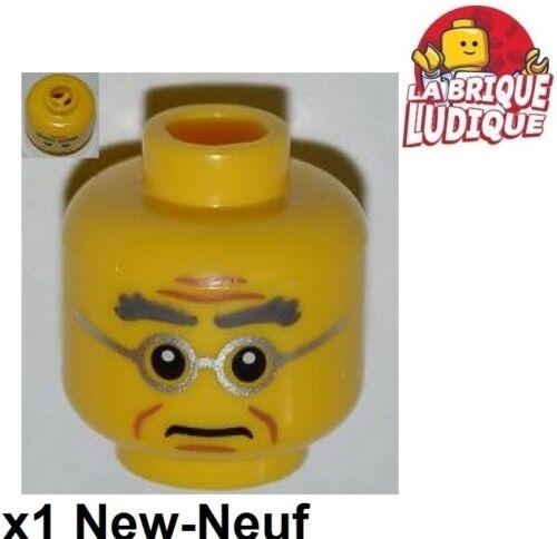 Lego 1x Minifig Head Head Man Glasses Driving Eyebrow Court Judge