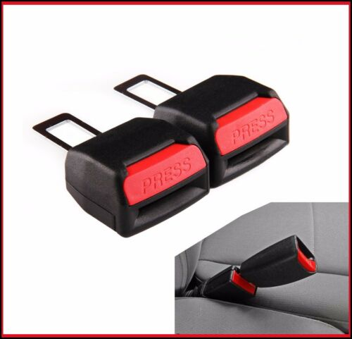 2 x Seat Safety Belt Buckle Adapter Extender Alarm Beep FOR PEUGEOT 106 205ALARM