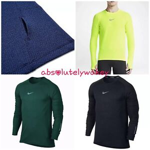 34d444ad Nike Men's AeroReact Long Sleeve Running Top Shirt Dri-Fit w ...