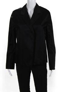 John-Patrick-Womens-Silk-Dolman-Open-Front-Blazer-Jacket-Black-Size-10