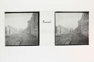 Pompei Italia Placca Da Lente Stereo Positive Pezzi Ca