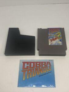 COBRA TRIANGLE + MANUAL 100% ORIGINAL AUTHENTIC NINTENDO NES GAME CLEANED TESTED