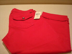Lucky-Brand-Sweet-N-Crop-Hot-Pink-Cropped-Denim-Jeans-Sz-10-30-NWT-89