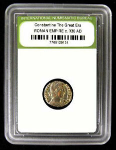 Slabbed-Roman-Imperial-Constantine-The-Great-Era-Ancient-Bronze-Coin-c-300-A-D