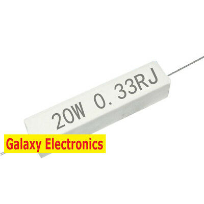 10pcs Brand New 5/% 5w 0.33ohm 0.33RJ Cement Resistor Flame Resistance