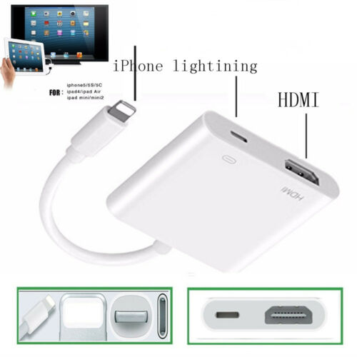 1080P 8 Pin Lightning to HDMI TV AV Adapter Cable for iPhone X XS MAX 8 plus