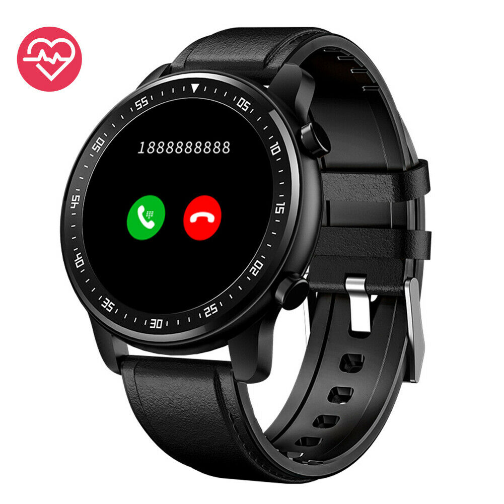 Men Smart Watch Bluetooth Call Music Control Heart Rate Monitor for Android iOS