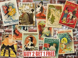 A3-Vintage-High-Quality-French-Advertisement-Retro-Posters-Art-Nouveau-Home-Art