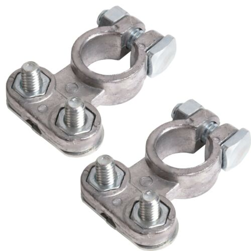2PC CAR BATTERY TERMINAL CLAMPS POST TYPE Connectors