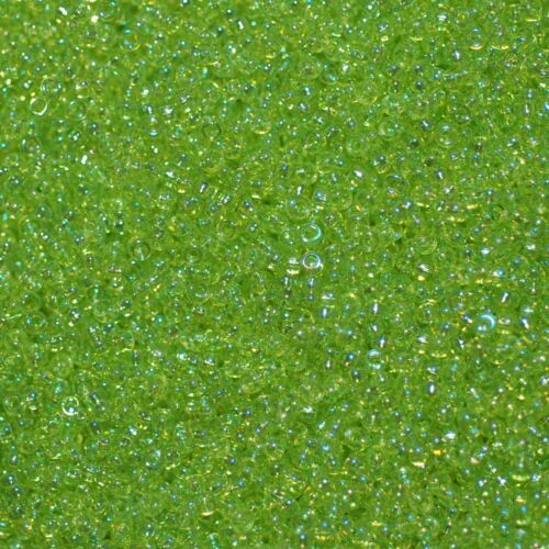 Herbe Comme neuf 5 g = 1 tubes Miyuki rocaille 15//0 environ 1,5 mm pommiers vert clair