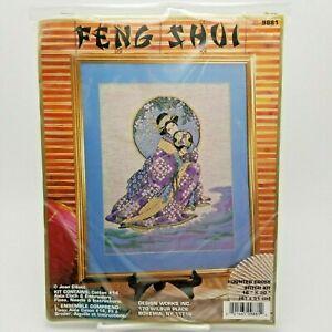 Counted-Cross-Stitch-Kit-Oriental-Spring-Beauty-Geisha-Girl-Feng-Shui-9881