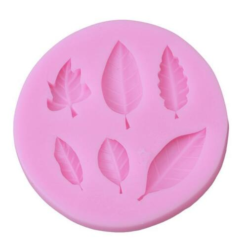 3D Leaves Silicone Baking Mould Cake Fondant Docorating Tools 6T