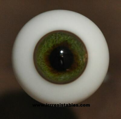 IMSCO GLASS PAPERWEIGHT 22mm BLUE DOLL EYES FOR DOLL MAKERS AND REPAIR