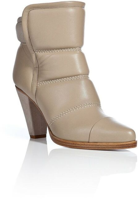 Chanel Tricolor Leather Strappy Ankle Boots Size 38.5 in