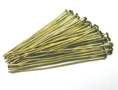 50 NIETSTIFTE 50mm Farbe bronze Stifte Kopfstifte #S322