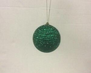 Ebay Christmas Baubles.Details About Pack 4 Large Emerald Green Ball Baubles 100mm Christmas Decorations