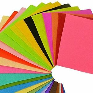 40PCS-30-30cm-Assorted-Color-Wool-Felt-Fabric-Sheets-Patchwork-Sewing-DIY-Craft