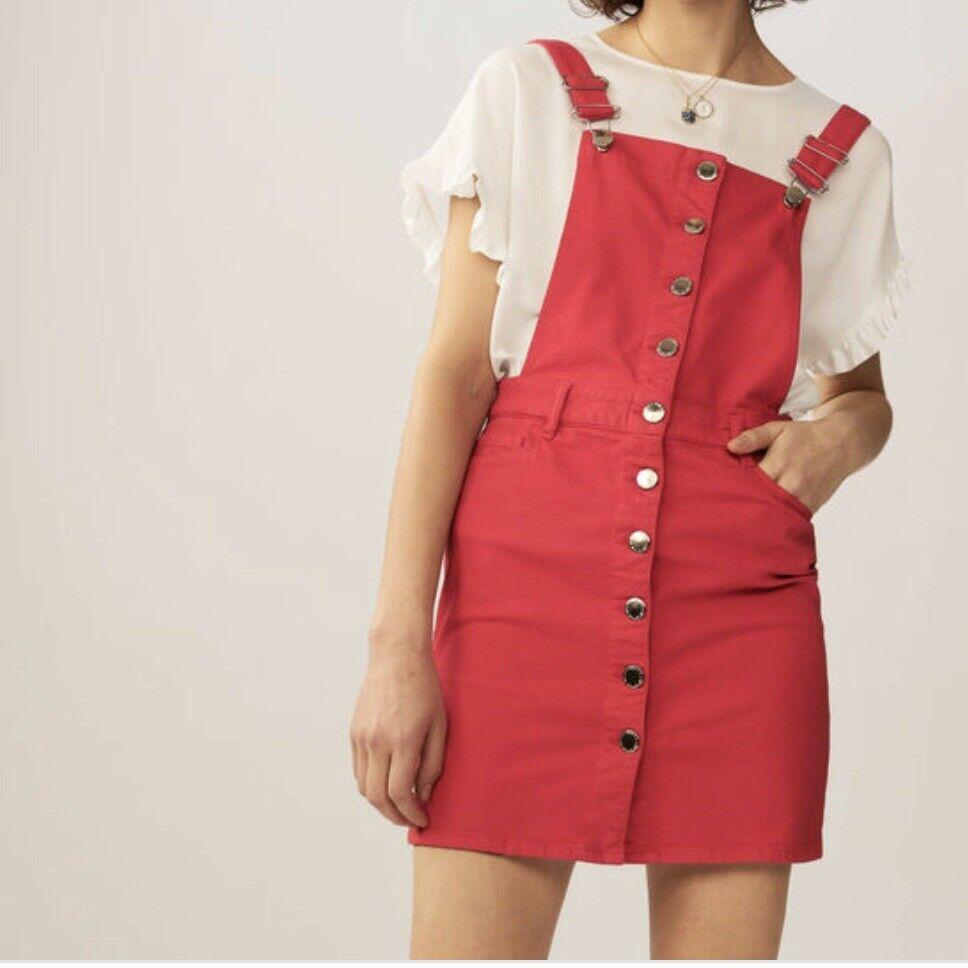 NEW Maje RED jumpsuit dress in denim MEDUIM MEDUIM MEDUIM 4b27ce