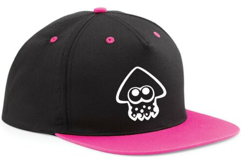 SNAPBACK hat CAP Inkling Squid Splatoon Switch Game Inspired 7 COLOURS