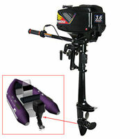 Inflatable Outboard Motor 3.6hp 2-stroke Fishing Boat Engine Watercooling System