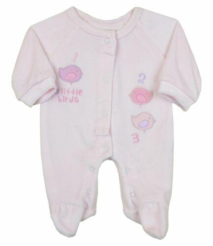BabyPrem Premature Baby Girls Clothes Velour Tiny Sleepsuit Sizes 3-5lb /&  5-8lb