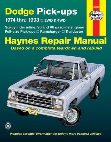30040 Manual 74-93 Haynes Dodge Pick-ups Manuals & Literature ...