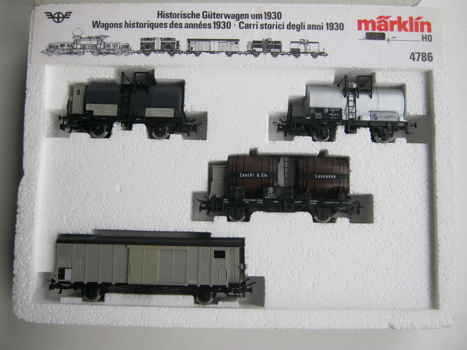 Märklin HO 4786 Güter Set Historisch um 1930 SBB (RG CG 013-45S1 1)  | Hochwertig