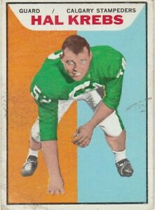 1965-TOPPS-CFL-HAL-KREBS-CALGARY-STAMPEDERS-24-KITCHENER-WATERLOO-DUTCHMEN