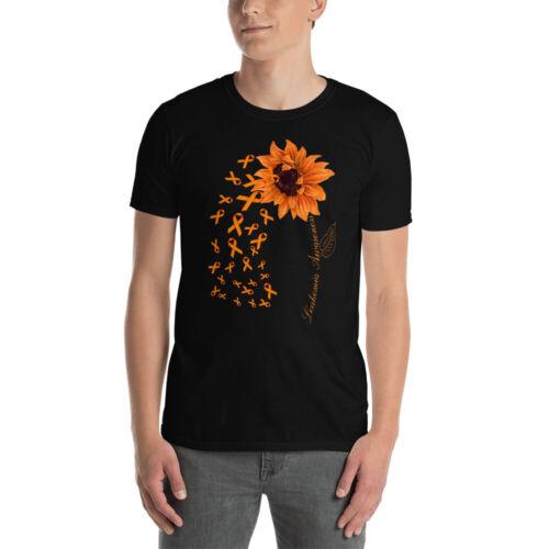 Leukemia Awareness Cool Orange Sunflower Ribbons Shirt