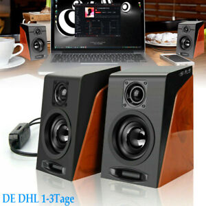 PC Lautsprecher Stereo Bass Speaker Multimedia Boxen für PC Computer Laptop