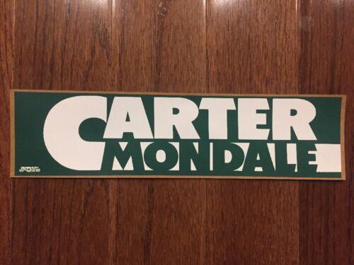 Vintage 1976 President Jimmy Carter Presidential Campaign Bumper Sticker Mondale