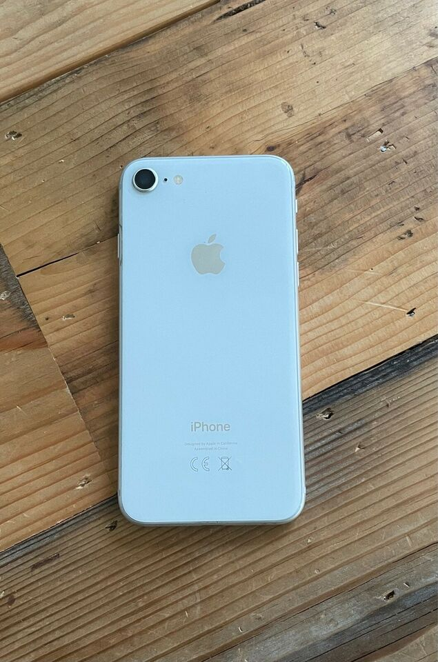 iPhone 8, 128 GB, hvid