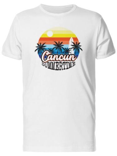Cancun Tropical Summer Sunset Men/'s Tee Image by Shutterstock