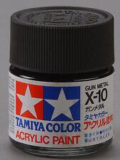 Tamiya X10 Gunmetal 3/4 oz Large Acrylic Paint Jar 81010 TAM81010