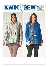 Kwik Sew SEWING PATTERN K4142 Womens Plus Size Jackets 1X-4X