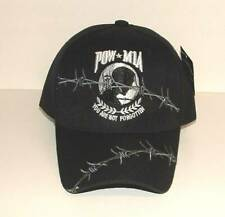 Embroidered Pow Mia POWMIA Barb Barbed Wire Mesh Baseball Cap Hat CAP604BA