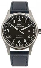 IWC Pilot's Mark XVIII Top Gun Miramar Black Leather Auto Men Watch IW327001 New