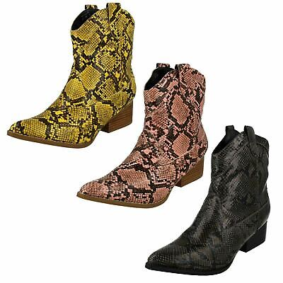 Ladies Spot On Cowboy Style Ankle /'Boots/'