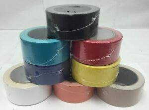 """1-54 Rolls 2""""x20yd Assorted Colored Duct Tape Black Red Yellow Blue White Orange"""