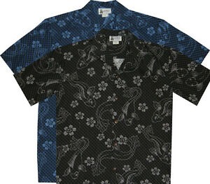 416f7c28 500-2992 Fancy Koi Carp Fish Hawaiian Shirt Background Scales Design ...