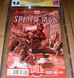 Superior Spider-Man 6 AU CGC SS 9 8 SIGNED Tom Holland