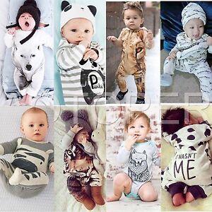 Newborn-Kids-Baby-Boys-Girls-Infant-Rompers-Jumpsuit-Bodysuit-Clothes-Outfit-Set