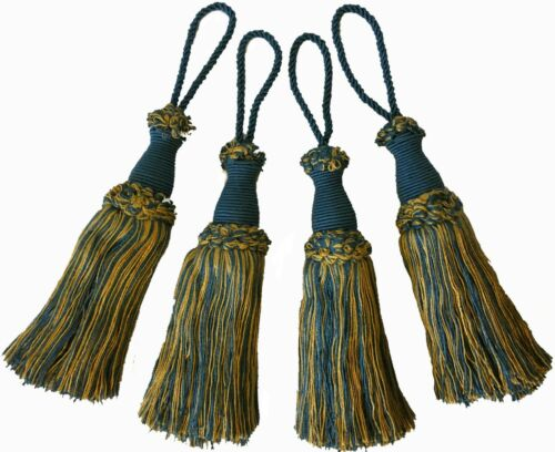 LARGE KEY TASSELS ASSORTED COLOURS X4 CURTAINS ART 19.277 BLINDS CUSHIONS