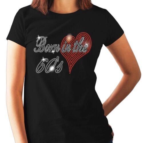 1980 S Anniversaire Cadeau Cristal Femmes T Shirt Né dans les années quatre TOUTES DIMENSIONS